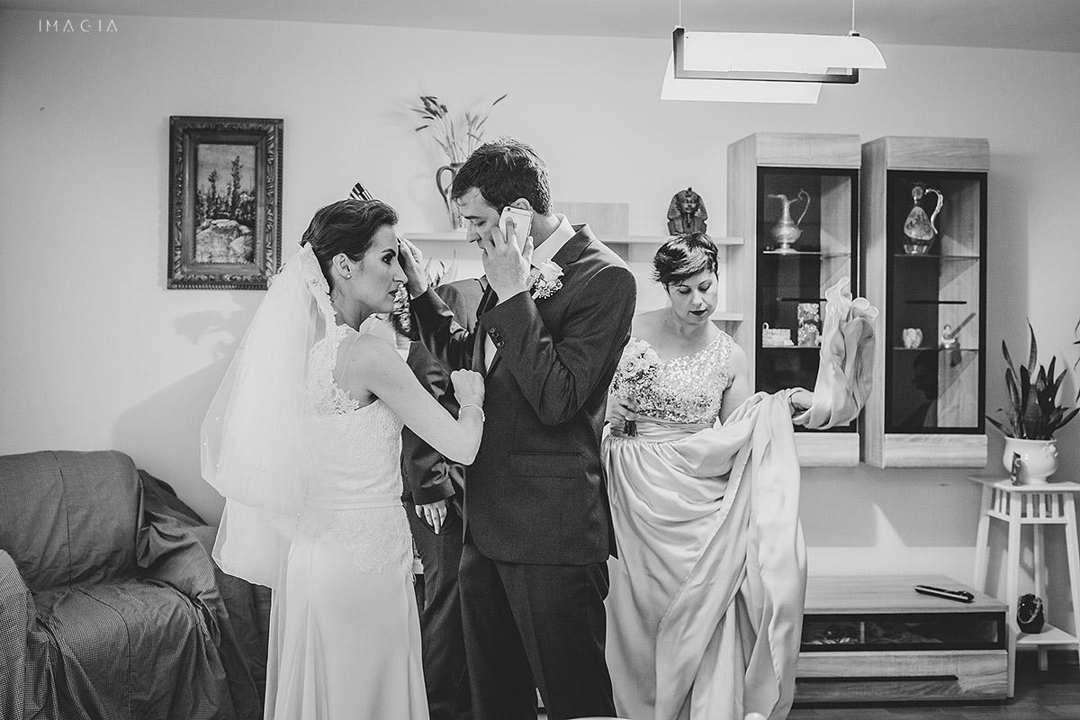 Mireasa si mire la o nunta in Baia Mare fotografiata de imagia.ro