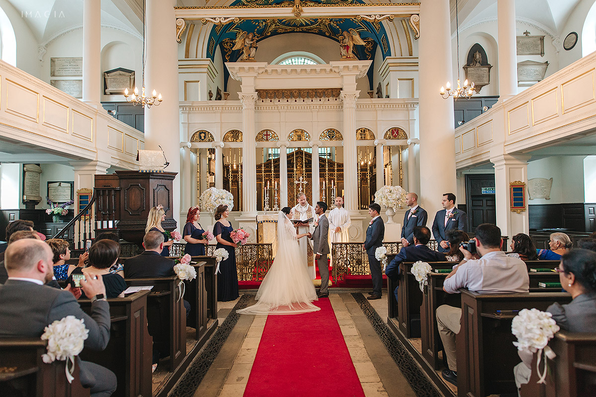 Grosvenor Chapel London Ceremony photographed by imagia.ro