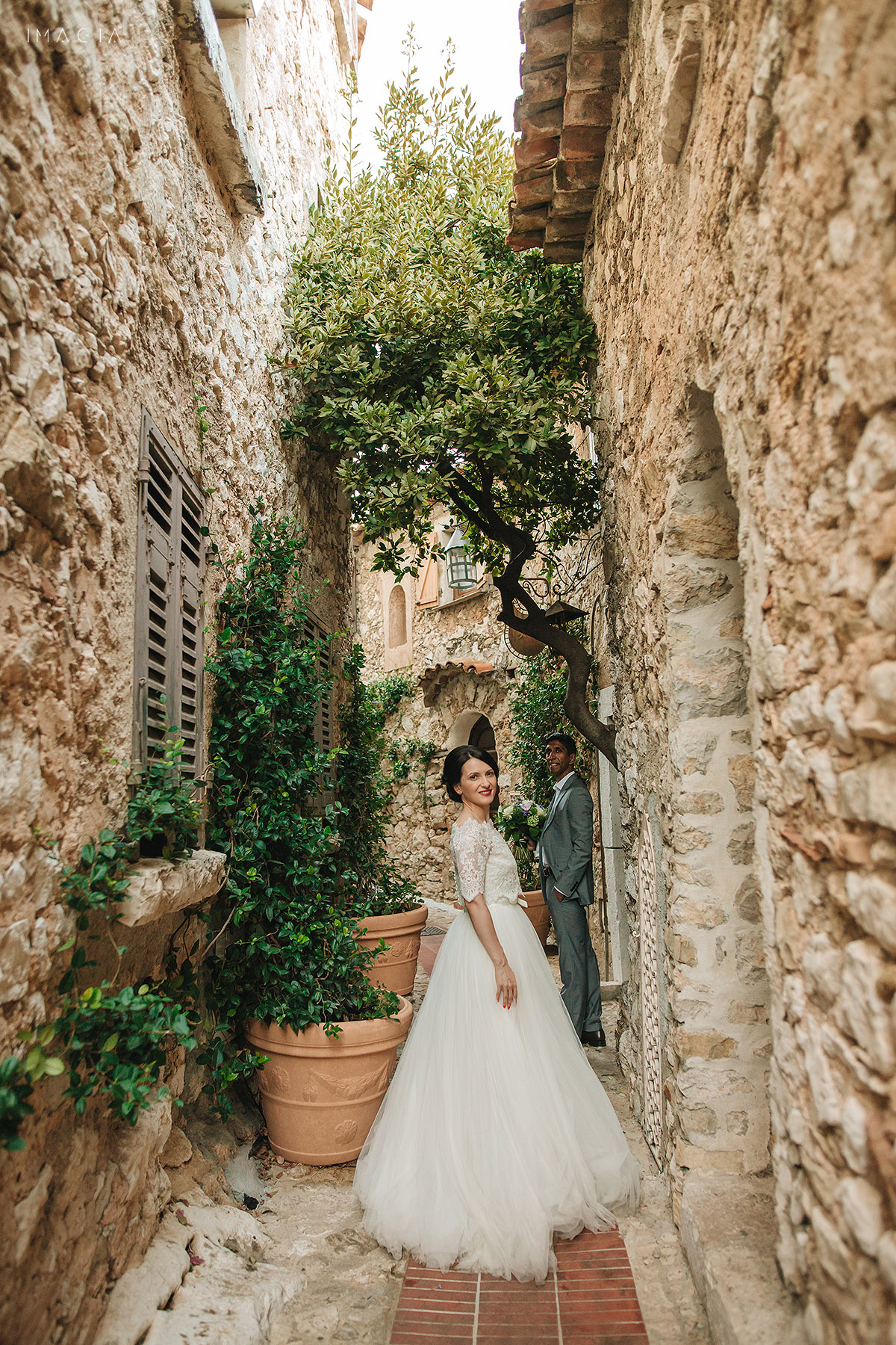 After-wedding photo session on French Riviera - Côte d'Azur