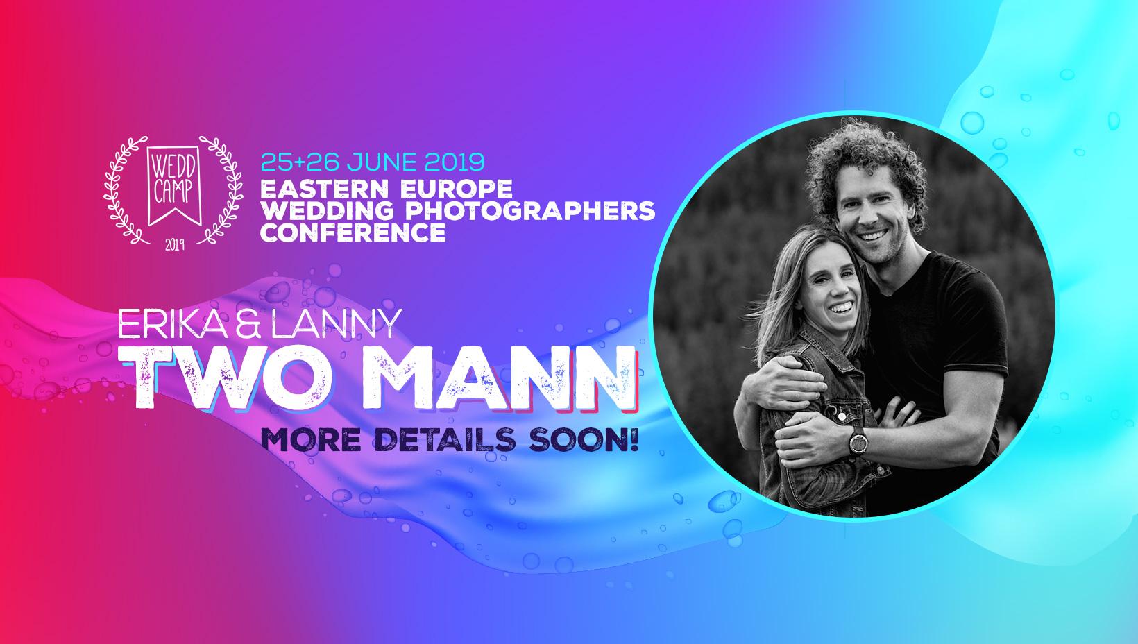 Two Mann speakeri la conferinta fotografilor de nunta WEDDCAMP 2019